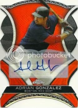 2012 Topps Chrome Adrian Gonzalez Dynamic Die-Cut Autograph