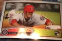 2012 Topps Chrome Bryce Harper SP Photo Variation RC