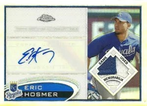 2012 Topps Chrome Eric Hosmer Patch Autograph Card