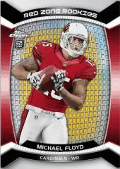 2012 Topps Chrome Football Michael Floyd Red Zone