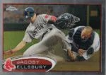 2012 Topps Chrome Jacoby Ellsbury Base Card