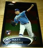 2012 Topps Chrome Matt Moore SP Photo Variation RC Card