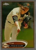 2012 Topps Chrome Tim Lincecum Base Card #1