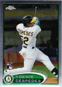 2012 Topps Chrome Yoenis Cespedes SP Photo Variation RC Card