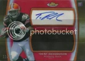 2012 Topps Finest Trent Richardson Jumbo Patch