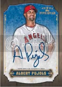 2012 Topps Five Star Albert Pujols Autograph #FSA-AP