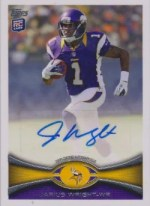 2012 Topps Jarius Wright Autograph RC Card