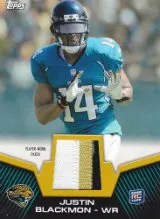 2012 Topps Justin Blackmon Patch Card