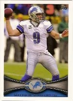 2012 Topps Matthew Stafford SP Photo Variation Base #225