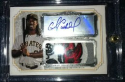 2012 Topps Museum Collection Adrew McCutchen Autograph Patch Card