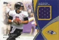 2012 Topps Prominant Players Joe Flacco Jersey Relic Card