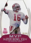 2012 Topps Super Bowl MVP Joe Montana Card