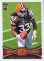 2012 Topps Trent Richardson SP Photo Variation RC Card