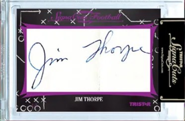 2012 TriStar SignaCuts Jim Thorpe Fantastic Find Cut Autograph Card