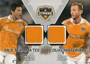2012 Upper Deck MLS Materials Dual Davis - Ching Jersey Card