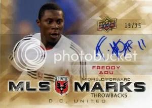 2012 Upper Deck MLS Throwback Marks Autograph Freddy Adu Card