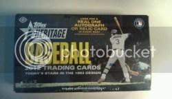 2012 Topps Heritage Baseball Hobby Box