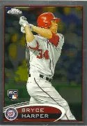 21012 Topps Chrome Bryce Harper RC Card #196