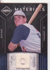 2011 Panini Limited Prime Materials Pete Rose Jersey