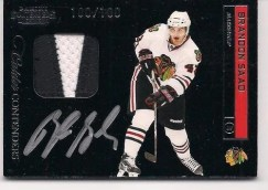 2011-12 Playoff Contenders Brandon Saad Autograph Patch RC Card #/100