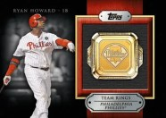 2012 Topps Series 2 Ryan Howard Team Ring