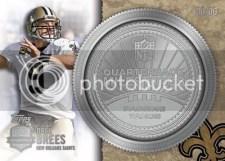 2012 Topps Football Drew Brees QB Milestones Silver