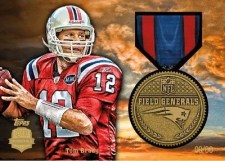 2012 Topps Football Tom Brady Military Medal