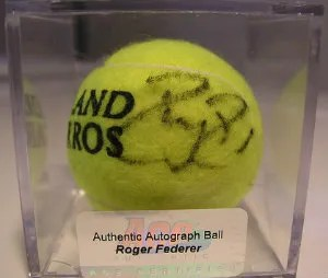 Ace Authentics Roger Federer Autograph Tennis Ball