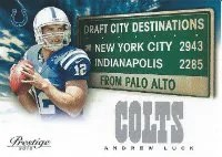 2012 Panini Prestige Andrew Luck Destination