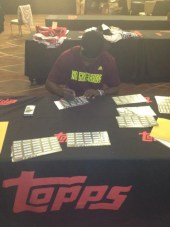 RGIII Robert Griffin III signing for Topps