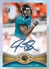 2012 Topps Chrome Football Justin Blackmon Refractor Autograph