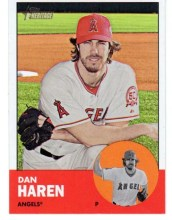 2012 Topps Heritage Card Dan Haren Base Card