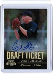 2011 Panini Contenders Corey Williams Draft Ticket Auto