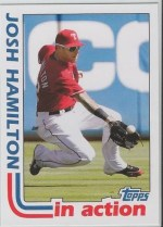 2012 Topps Archives Josh Hamilton In Action Insert Card