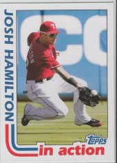 2012 Topps Archives Josh Hamilton In Action