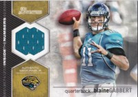2012 Bowman Blaine Gabbert Inside the Numbers Jersey