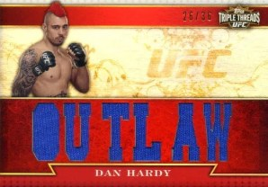 2012 Topps UFC Knockout Dan Hardy Triple Threads Relic Card #/36