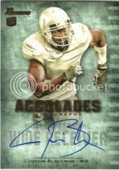 2012 Bowman Justin Blackmon Autograph