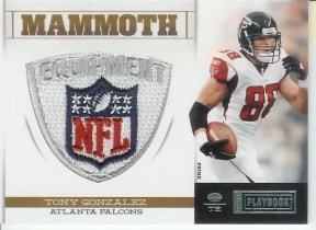 2011 Panini Playbook Tony Gonzalez Mammoth NFL Shield Patch Card