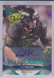 2012 Upper Deck Star Rookie Autographs David Paulson