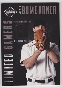2011 Panini Limited Gamers Caps Madison Bumgarner High School Hat Card #11
