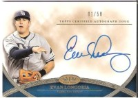 2012 Topps Tier One Evan Longoria Auto