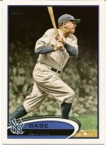 2012 Topps Series 2 Babe Ruth Sp Card