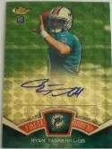 2012 Topps Finest Ryan Tannehill Superfractor