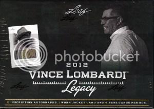 2012 Leaf Vince Lombardi Legacy Football Box