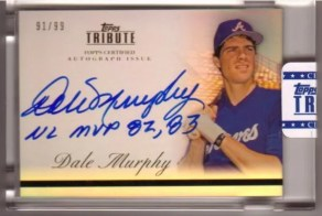 2012 Topps Tribute Dale Murphy Auto Inscription