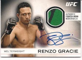 2012 Topps UFC Knockout Fighter Relic Autograph Renzo Gracie Card