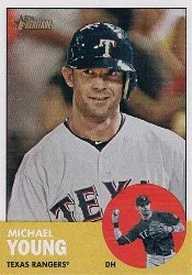 2012 Topps Heritage Michael Young Base Card