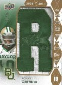 2012 Upper Deck Robert Griffin III Autograph Letterman 'R'