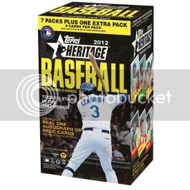 2012 Topps Heritage Baseball Retail Blaster Box